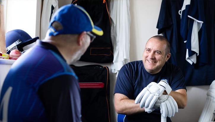 """""""Ik was vastbesloten om opnieuw cricket te gaan spelen. De ring gaf me zelfvertrouwen."""""""