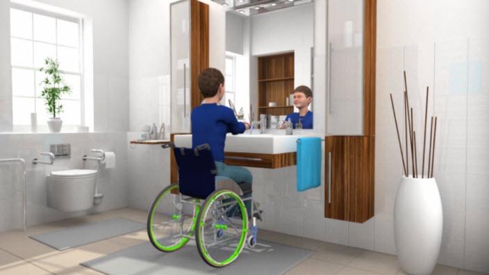 SpeediCath in een rolstoel