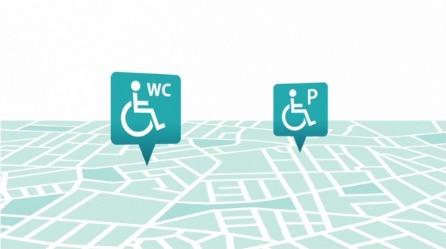 Het vinden van toegankelijke toiletten en parkeerplaatsen