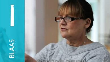 Eerste reactie van verpleegkundige op de nieuwe discrete catheter met urine-opvangzak